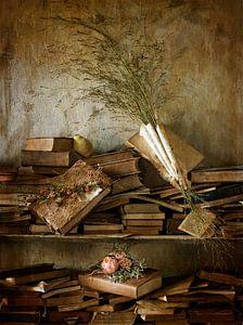 Stilleven oude boekenkast