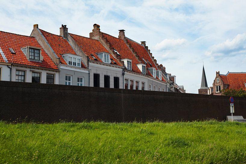 Typical houses of Wijk bij Duurstede, The Netherlands van Jeroen van Esseveldt