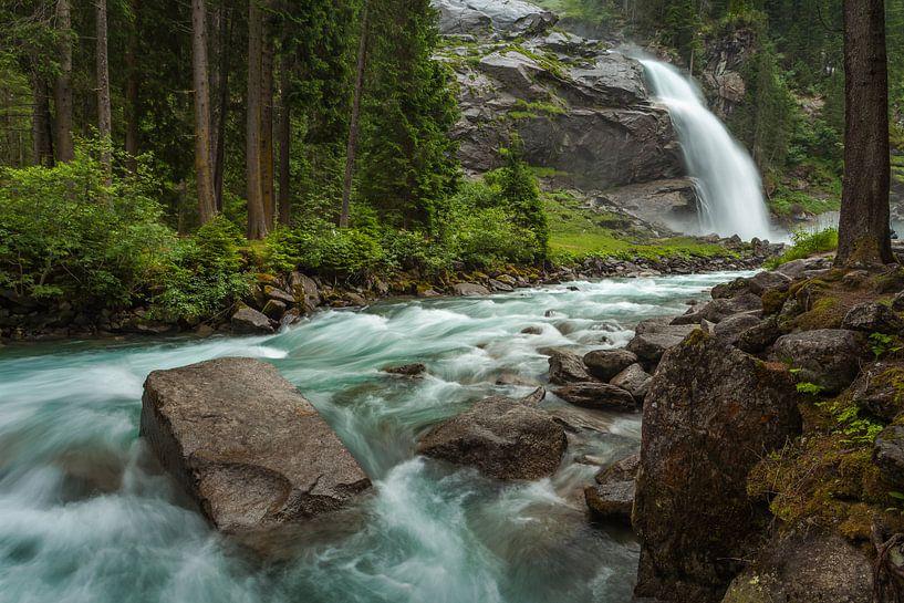 Krimmler Waterfall van Harold van den Berge