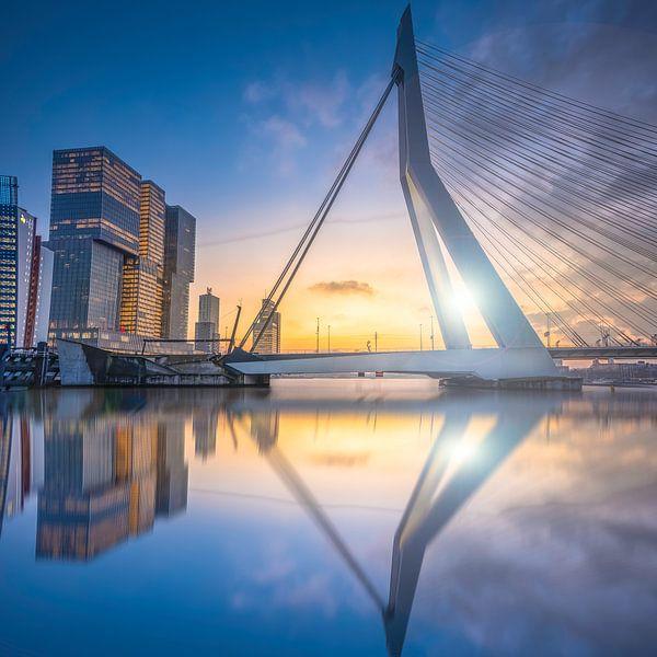 Rotterdam Sunset van Michel Jansen