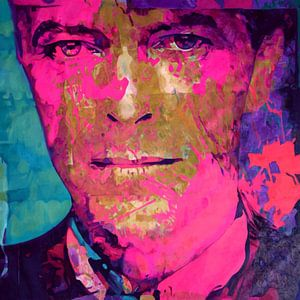 Motiv David Bowie - Pink - Scarf Face