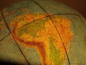 Le Brésil sur le Globe