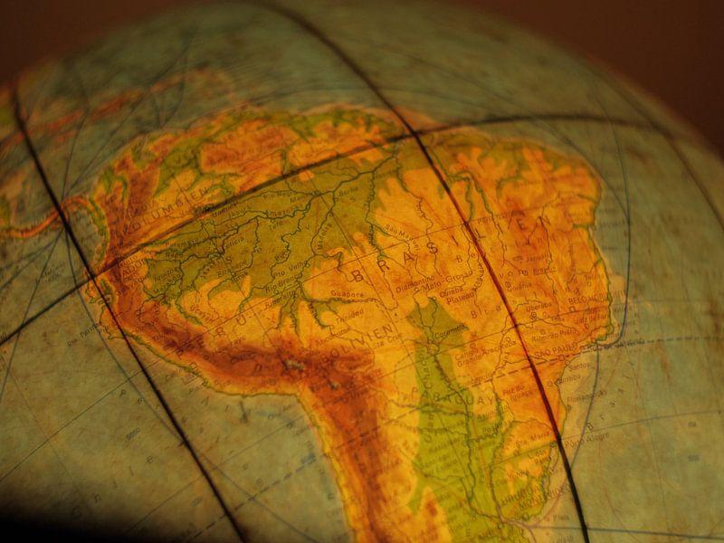 Le Brésil sur le Globe sur World Maps