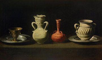 Stillleben mit vier Vasen, Francisco de Zurbarán - um 1635