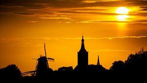 Zonsondergang boven Hasselt von