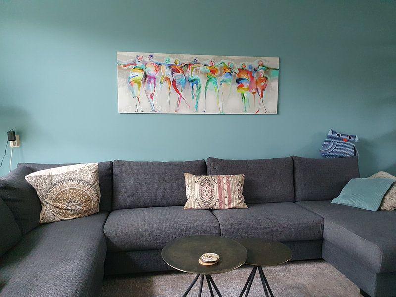 Photo de nos clients: All Happy Connected People  sur Atelier Paint-Ing, sur toile