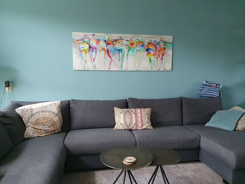 Kundenfoto: All Happy Connected People  von Atelier Paint-Ing, auf leinwand