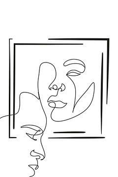 Strichzeichnungen Gesichter von by Tessa