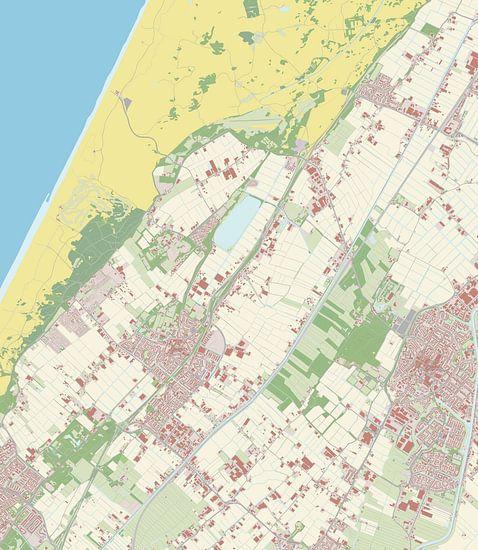 Kaart vanNoordwijkerhout van Rebel Ontwerp