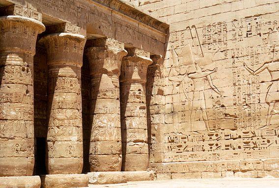 De Tempel van Ramses III te Medinet Haboe van Herbelicht Fotografie