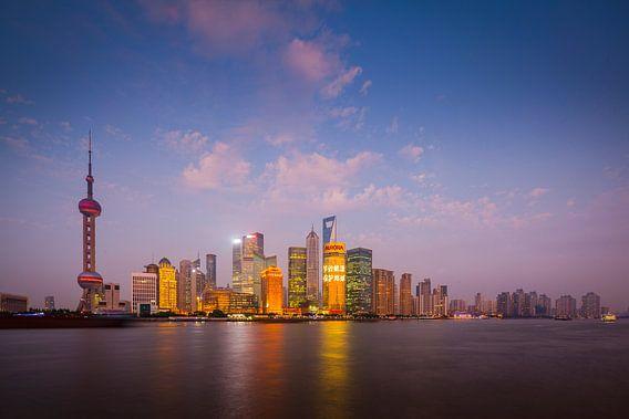 Shanghai Skyline van Chris Stenger