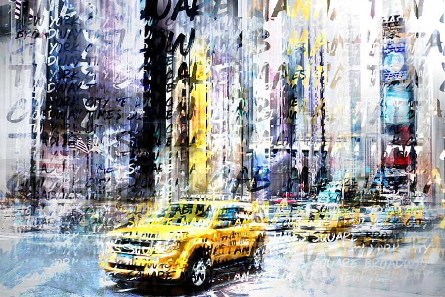 City-Art TIMES SQUARE Streetscene van Melanie Viola