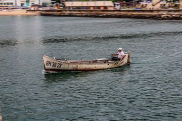 Eenzame visser van Glenn Collyns