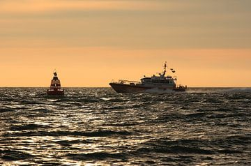 Loodsboot op de Oosterschelde van MSP Canvas