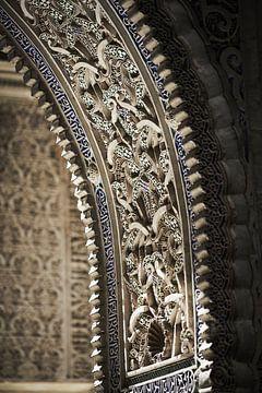 Detail  uit boog Alhambra Cordoba van Karel Ham
