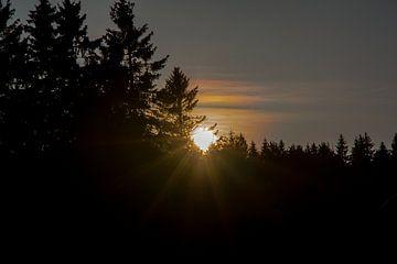 Sonnenuntergang bei Oberhof von Alexander Wolff