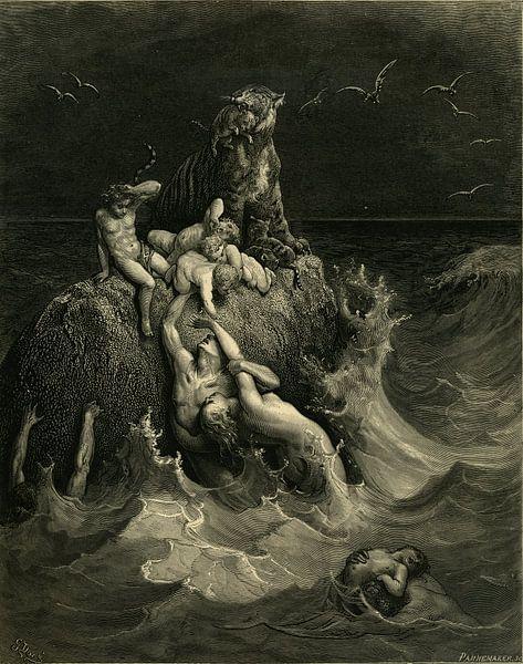 Die Sintflut - Gustave Dore - 1866 von Atelier Liesjes