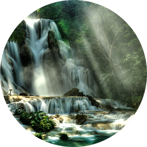Lost Paradise of Xuang Si, Laos van Giovanni della Primavera