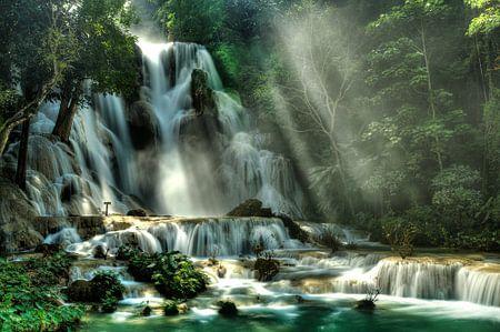 Lost Paradise of Xuang Si, Laos van Jaap van Lenthe