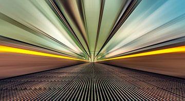 Full speed @ escalator station Liège-Guillemins  sur Martijn van Dellen