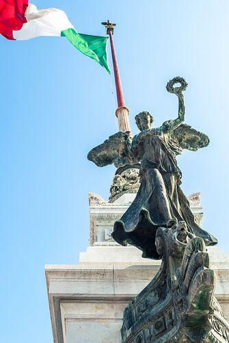 De Italiaanse vlag in top