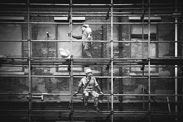 Bauarbeiter in Shanghai von Erik Juffermans