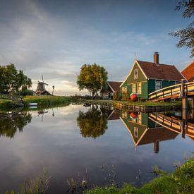 Zaanse Schans - Boerderij - Zonsondergang van Fotografie Ploeg