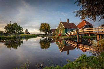 Zaanse Schans - Bauernhof - Sonnenuntergang von Fotografie Ploeg