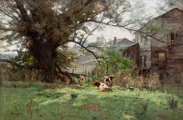 T C. Steele (Amerikaner, 1847-1926)~Guten Morgen, Old Schofield's Mill.