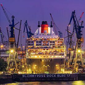 2016-06-05 Queen Mary 2 im Dock von Joachim Fischer