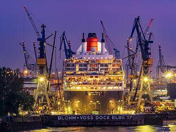2016-06-05 Queen Mary 2 im Dock