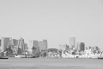 Rotterdam - Willemsbrug en omgeving - in zwart-wit van Ineke Duijzer