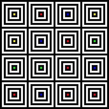 Nested | Center | 04x04 | N=04 | Random #02 | RGBY van Gerhard Haberern