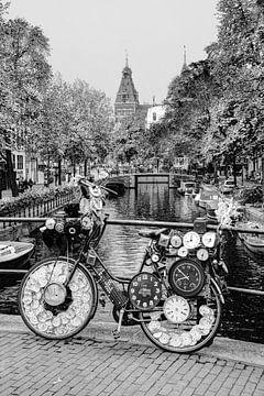 Centre-ville d'Amsterdam Pays-Bas Noir et blanc sur Hendrik-Jan Kornelis