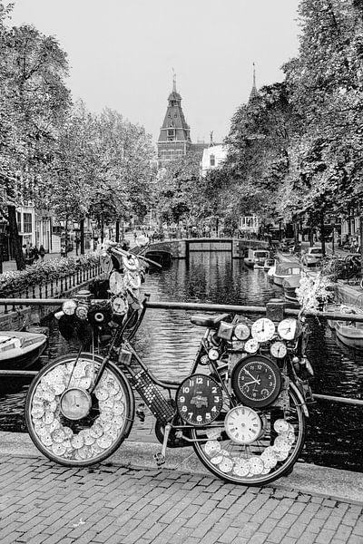 Binnenstad van Amsterdam Nederland Zwart-Wit van Hendrik-Jan Kornelis