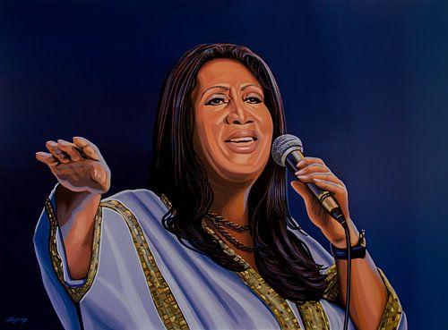 Aretha Franklin Schilderij van Paul Meijering