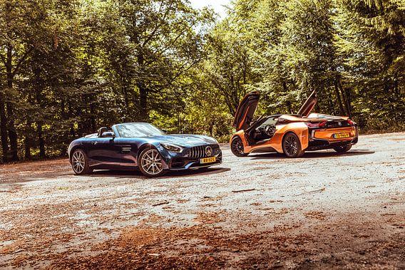 Mercedes GT AMG Roadster vs BMW i8 Roadster