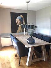 Klantfoto: Meisje met parel - Meisje van Vermeer - Schilderij (HQ), op canvas