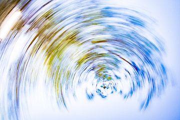 daytrails - groen - boom - zon - abstracte - hedendaagse kunst van Sven Van Santvliet