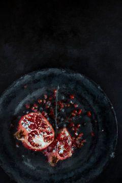 Stilleven Granaatappel van Digitale Schilderijen