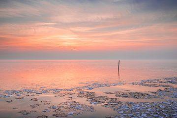 Coucher de soleil à l'Ijsselmeer