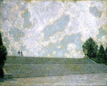Die Stufen des Palastes von Versailles, Henri Le Sidaner