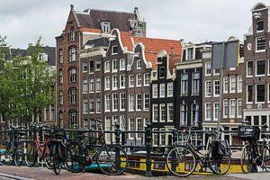 Amsterdamse Grachtenhuizen in kleur van