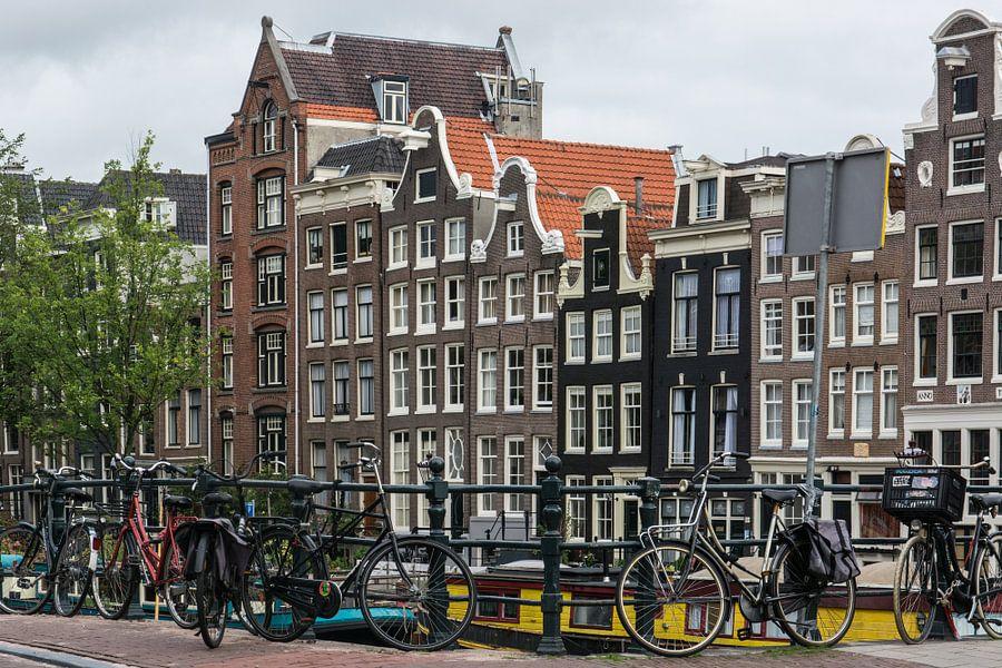 Amsterdamse Grachtenhuizen in kleur