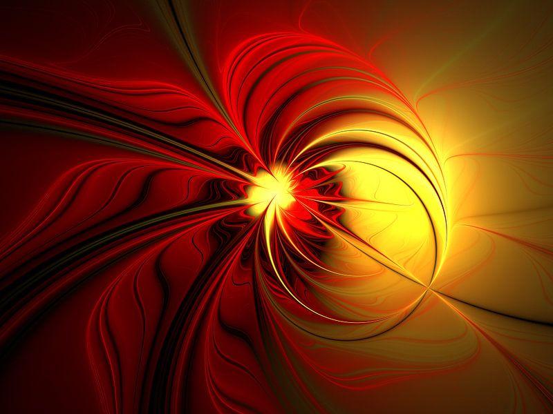Magie in Rot-Gold von gabiw Art