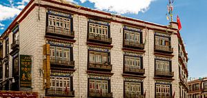 Gebouw in Lhasa (Tibet)