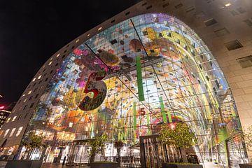 Markthalle bei Nacht von Jacco van der Giessen