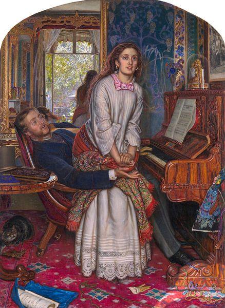 Holman Hunt. The Awakening Conscience van 1000 Schilderijen