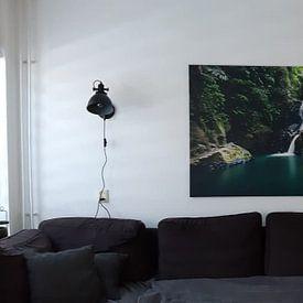 Klantfoto: Waterval  Pulau Weh van Corrine Ponsen, op canvas