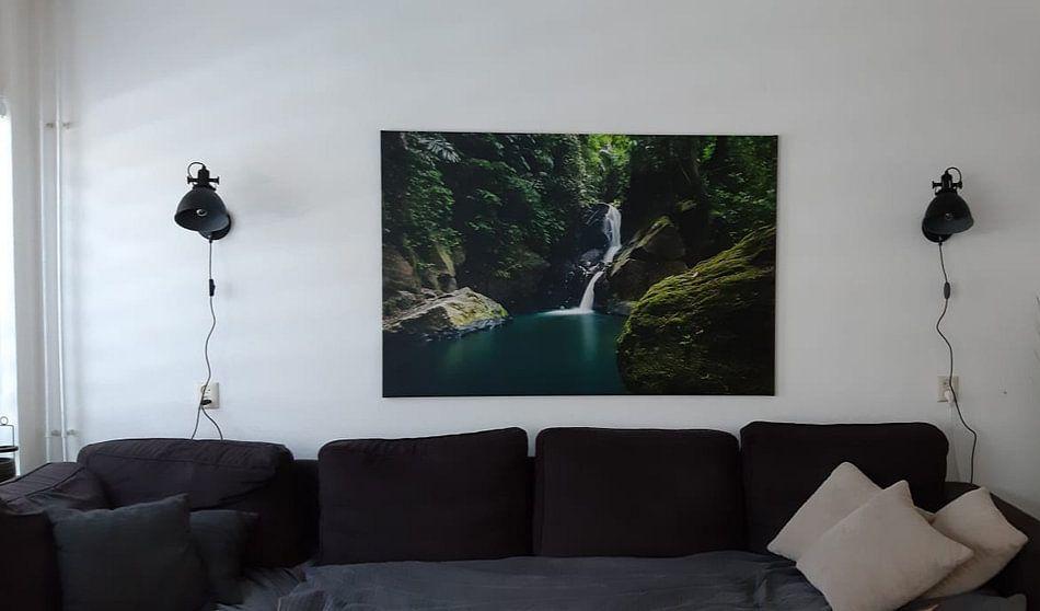 Klantfoto: Waterval  Pulau Weh, tropical waterfall van Corrine Ponsen